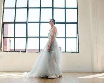 Asta Dove Grey Tulle Bridal Skirt