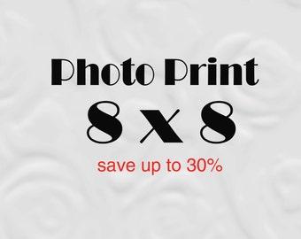 8x8 Print set of 8 x 8 Photo, 8x8 Photography Prints (save 30%)