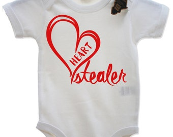 Heart Stealer Babygrow Vest Top Cute Valentines Day EBG67