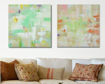 Abstract Wall Art, Abstract Painting, 2 Piece Set Canvas Art, Handmade  Painting, Contemporary Art