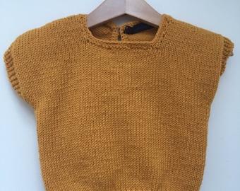 Mustard knitted t-shirt