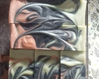 Here is Facial Bar of Goats Milk Soap , with  Tea Tree, Peppermint & Rosmary Essential Oils ,with activated Charcoal