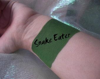 Snake Eater - Cream Liquid Matte Grass True Green Lipstick - Metal Gear Gaming Inspired Lipstick Gothic Zombie Lips Goth