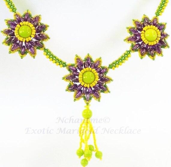 Exotic Marigold Necklace Kit
