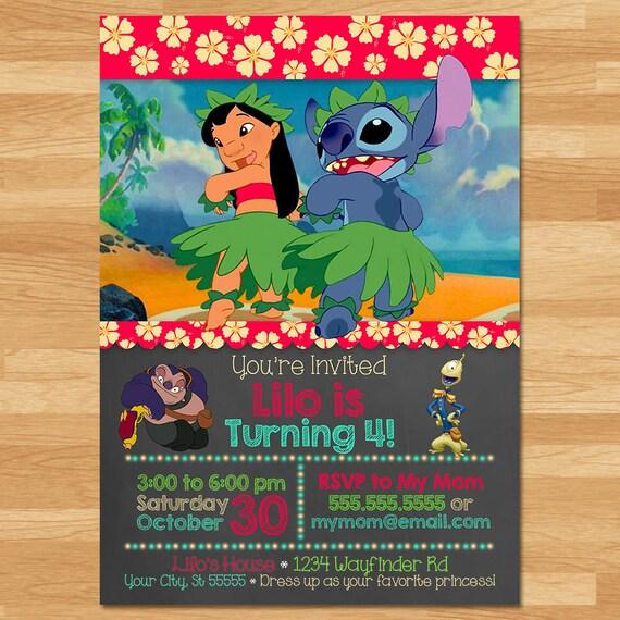 Lilo Y Puntada Invitaci 243 N Pizarra Lilo Y Puntada Invitar