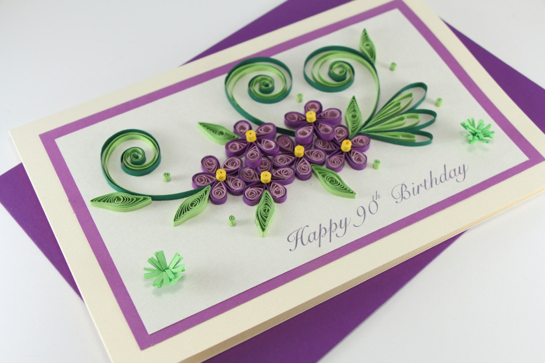 90th birthday card mom daughter sister nan grandma zoom bookmarktalkfo Image collections