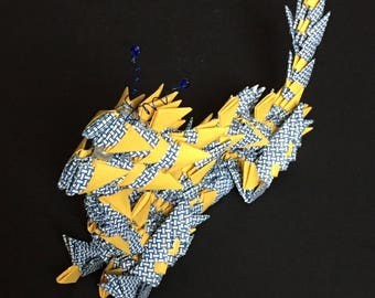 Handmade Chinese Paper Zodiac Dragon - Small