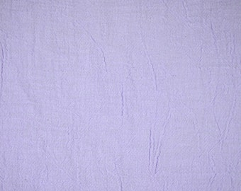 "1/2 YARD, CRINKLE CREPE, Lilac Purple, 48"" Wide Fashion or Craft Fabric, Medium Wt Cotton, B10"
