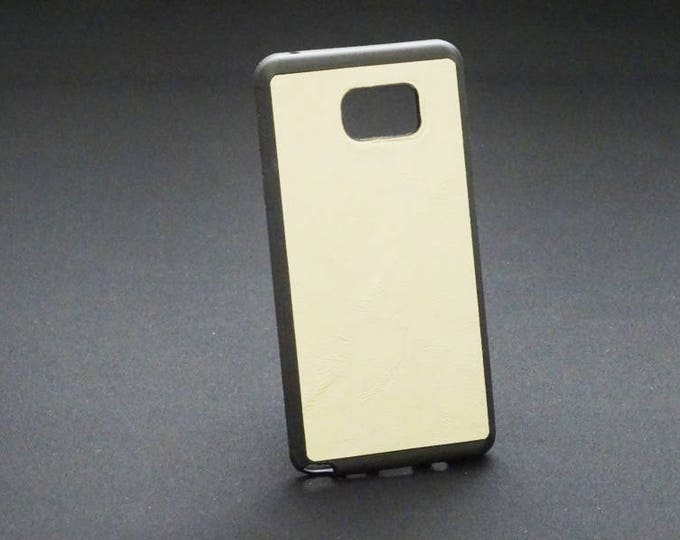 Samsung Galaxy Note 5 - Jimmy Case - Genuine Kangaroo Leather Protective Rubber Phone Case Handmade - Satin Tan