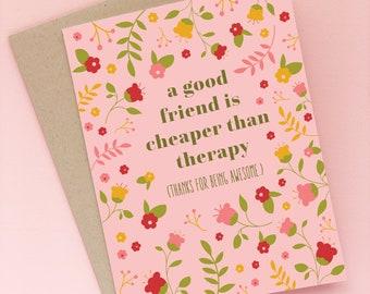 The Carol Card | Floral Friendship Greeting Card