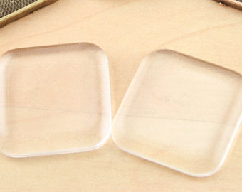 1 inch (25mm) Square PUFFY Glass Tiles with Rounded Corners. Pick your quantity.
