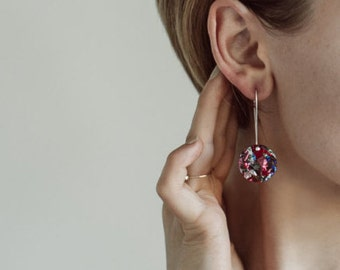Round  Glitter Drops - Fireworks - Small - Each To Own - Laser Cut Drop Earrings