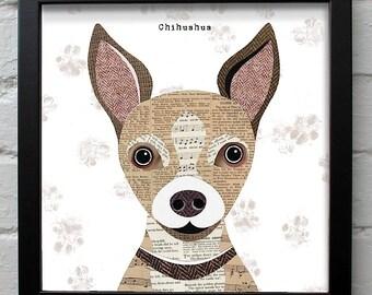 Chihuahua Dog print (2 versions)