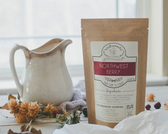 Northwest Berry Handcrafted Tea W/ Elderberries | ORGANIC | Herbal | Winterwoods Tea Company Loose Leaf Blend
