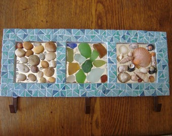 support towels mosaics upcycled sea decor
