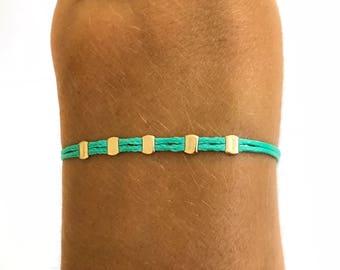 14k Gold filled Bracelet • Christmas Gift for Her • Beaded Friendship Bracelet • Gold bead bracelet • Gold Friendship bracelet