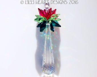 Lilli Heart Designs Annual  *2016 Christmas Ornament Swarovski Logo Etched Crystal Flow* m/w Swarovski 63mm Logo Limited Edition