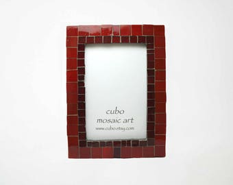 Mosaic Wall Photo Frame | Unique artistic frame | Total size-- 13,5 x 18,5 cm. Photo size--8,5 x 13,5 cm