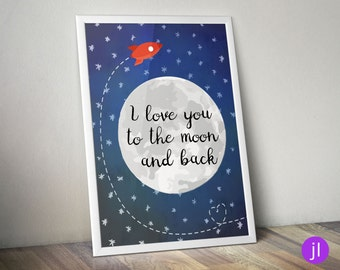 """A4 Poster """"Moon"""""""
