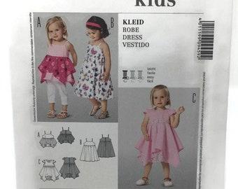 Girls Dress/Top Pattern, Burda 9459, Toddler/Girls Size 2-6, Uncut Sewing Pattern