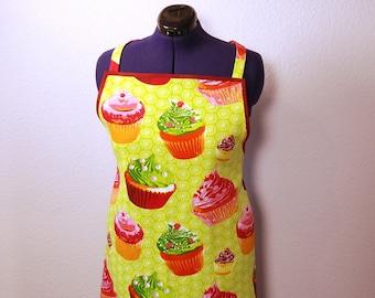 Cooking apron, kitchen apron, tablier, apron woman, muffin, gift woman