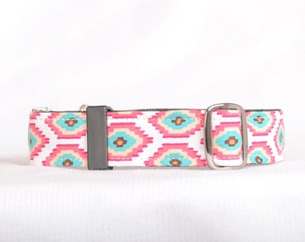 Dog Collar with Personalized Buckle,Green Eye,Fabric 209