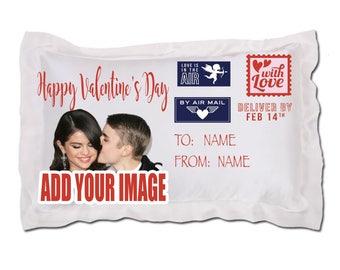 Personalized pillowcase, Valentine's Day pillowcase, custom pillowcase