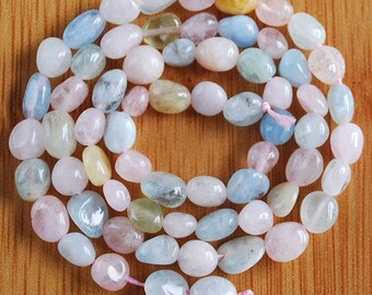 6 to 7mm/ Natural / Morganite/ Gemstone/ Beads  /Full Strand Morganite Beads
