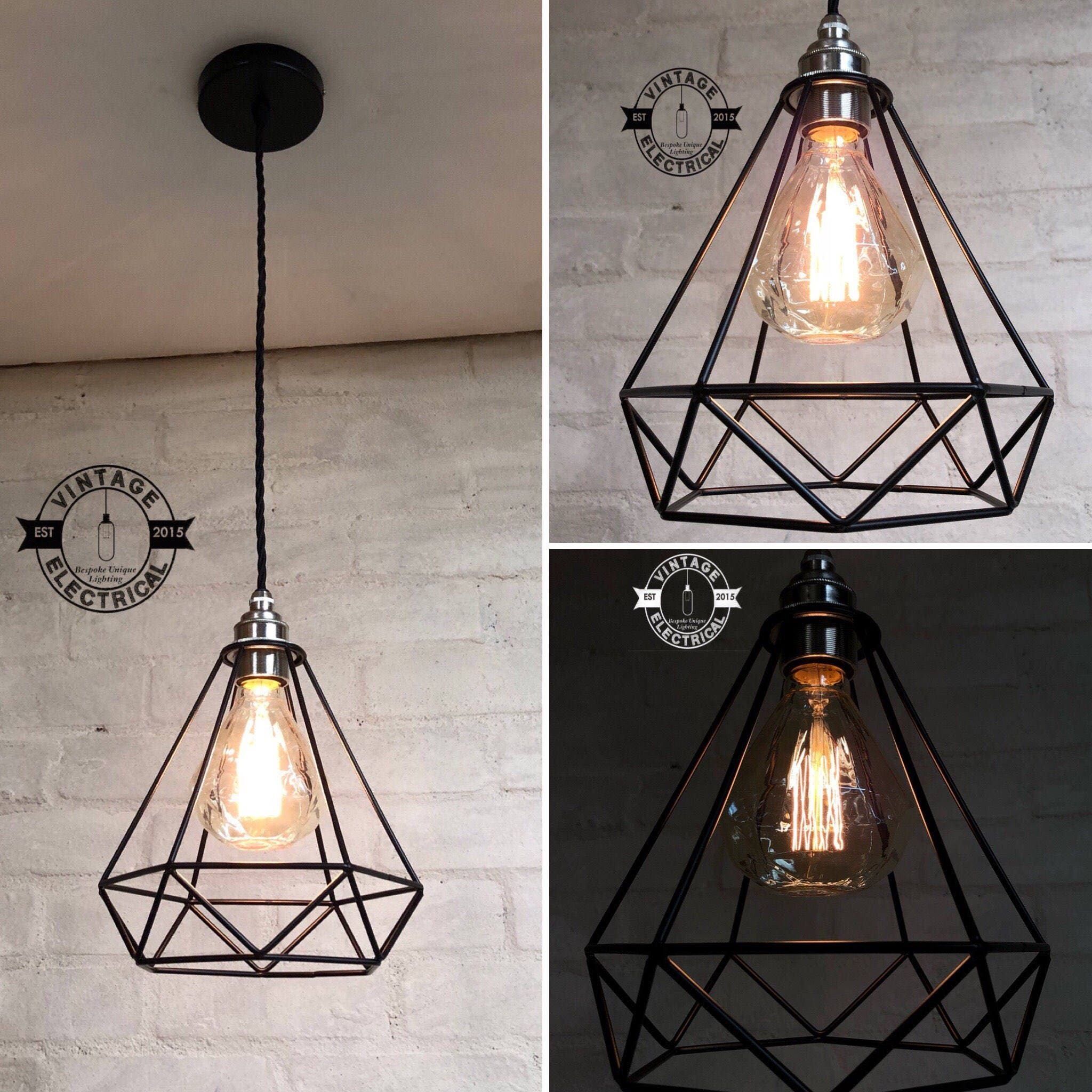 light island hanging spherical rustic shade pendant dp lights ceiling vintage retro metal perfectshow com chandelier kitchen round edison iron amazon
