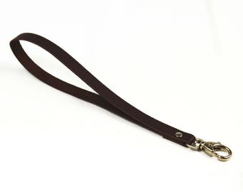 Lobster chocolate leather strap