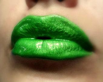 Poison Ivy - Bright Green Lip gloss Vegan - Gluten Free - Fresh - Handmade Cruelty Free