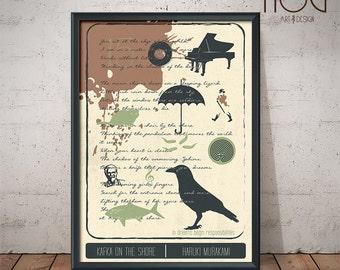 Kafka On The Shore Poster - Unique Retro Poster - Book Poster, Literature Print, Murakami Print