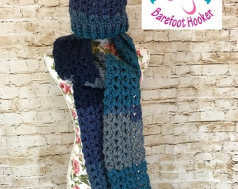 Chunky Hat and Scarf Set