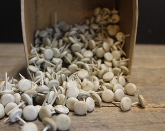 Vintage White Upholstery Tacks // Smooth Finish