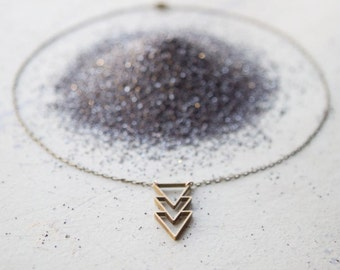 the Triple Triangle necklace