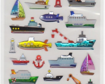 Boat Stickers - Ship Stickers - Ferry Stickers - Raised Stickers - Mind Wave - Reference F1519F1597F1724F2419F2747