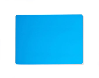 """Blue Fluorescent Neon Dry Erase Magnet Sheet - 9"""" X 12"""" - 1 Sheet"""