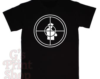 PUBLIC ENEMY SCOPE T Shirt - Chuck D - Flavor Flav - Professor Griff - Khari Wynn - Dj Lord - Hip Hop - Rap - White