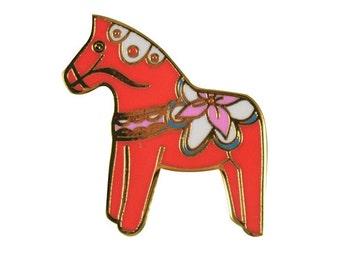 Dala Horse Enamel Pin