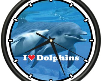 Dolphin Wall Clock Dolphins Bedroom Decor Art Gift