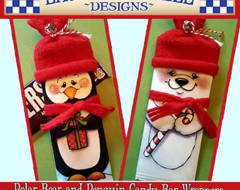 Penguin Candy Wrapper, Polar Bear Candy Bar Wrapper, Christmas Candy Wrappers Hershey Candy Wrappers, Laurie Furnell Christmas Printables
