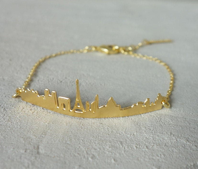 Skyline Bracelet Paris bracelet Architectural jewelry