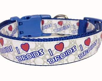 Star Wars - Droid - I Love Droids - Inspired Dog Collar - Fan - Dog Gift - Gift -