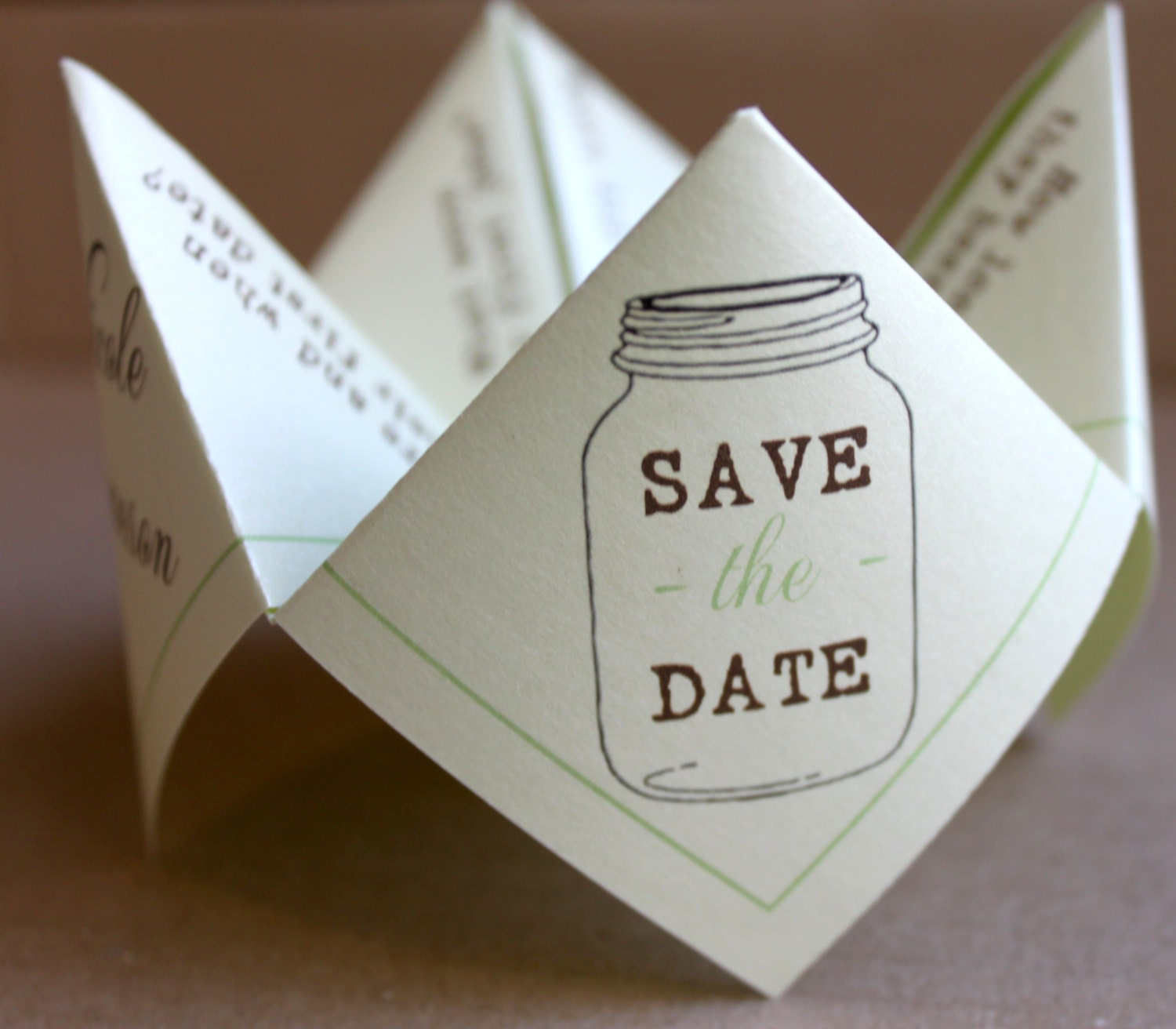 Save the Date Cootie Catcher PDF PRINTABLE
