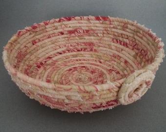 Textured Basket, Coiled Basket, Clothesline Basket
