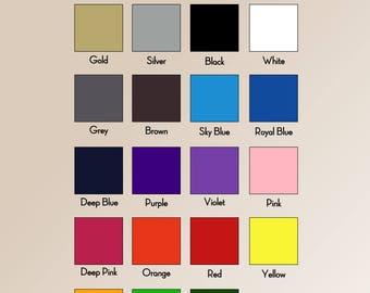 High quality T-shirt PU heat transfer vinyl 50cm x 10m(you can mix the colours)