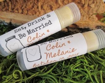 Mason Jar Wedding Lip Balm Favors Organic Lip Balm Wedding Favor Personalized Lip Balm Favors Custom Lip Balm Wedding Favor Bridal Lip Balm