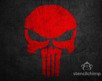 The Punisher Stencil   DIY Art Stencil