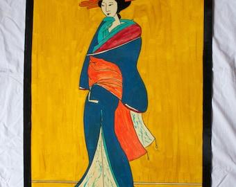 Geisha floor cloth