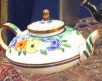 Wemyss Ware Miniature Enameled Teapot